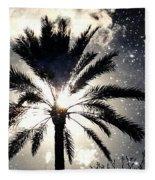 Palm Tree In The Sun #3 Fleece Blanket