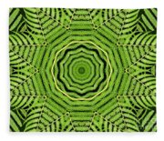 Palm Tree Kaleidoscope Abstract Fleece Blanket