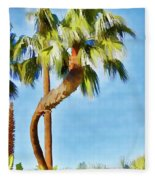 Palm Tree Needs A Chiropractor Painterly I Fleece Blanket