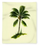 Palm Tree Number 1 Fleece Blanket