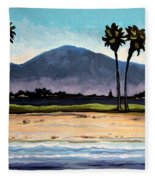 Palm Tree Oasis Fleece Blanket