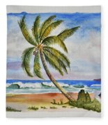 Palm Tree Ocean Scene Fleece Blanket