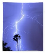 Palm Tree On Strike Fleece Blanket