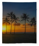 Palm Tree Paradise Fleece Blanket