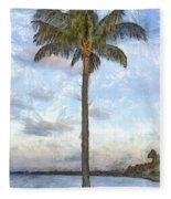 Palm Tree Pencil Fleece Blanket