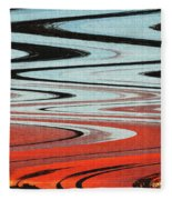 Palm Trees Abstract Design Fleece Blanket