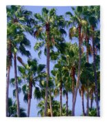 Palm Trees. California, Sunny Beauty Fleece Blanket