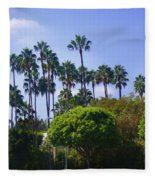 Palm Trees. My Beautiful California Fleece Blanket