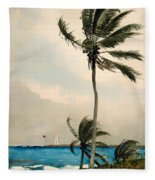 Palm Trees - Nassau Fleece Blanket