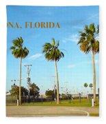 Palm Trees Of Daytona Florida Fleece Blanket