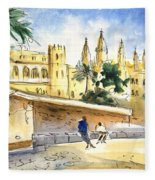 Palma De Mallorca Cathedral Fleece Blanket
