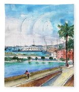 Palma De Mallorca Panoramic 01 Fleece Blanket