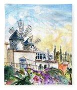 Palma De Mallorca Panoramic 03 Fleece Blanket