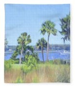 Palmetto Bluff Backyard Fleece Blanket
