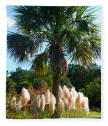 Palmetto Tree  Fleece Blanket