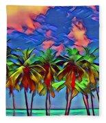 Palms 2 Fleece Blanket