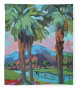 Palms And Coral Mountain Fleece Blanket