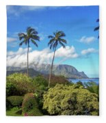 Palms At Hanalei Fleece Blanket