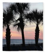 Palms At Sunset  Fleece Blanket