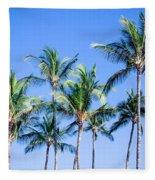 Palms In Living Harmony Fleece Blanket