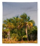 Palms - Naples Florida Fleece Blanket
