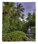 Palms Pool Fleece Blanket
