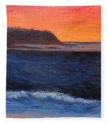 Palos Verdes Sunset Fleece Blanket
