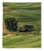 Palouse Farm 1 Fleece Blanket