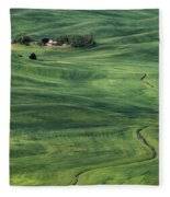 Palouse Green Fields Fleece Blanket