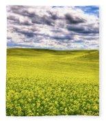 Palouse Hills Canola Fleece Blanket