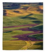 Palouse Hills Fleece Blanket