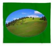 Palouse - Landscape - Transparent Fleece Blanket