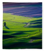 Palouse - Later Afternoon Fleece Blanket