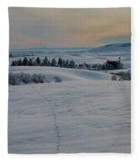 Palouse Tracks Fleece Blanket