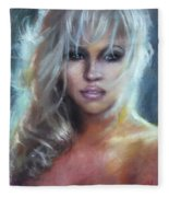 Pamela Anderson Fleece Blanket
