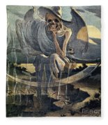 Panama Canal Cartoon, 1904 Fleece Blanket