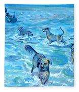 Panama. Salted Dogs Fleece Blanket