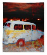 Panel Truck  Fleece Blanket