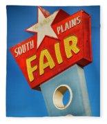Panhandle South Plains Fair Sign Fleece Blanket