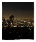 Pano From Griffeth Observatory  Fleece Blanket