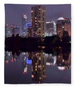 Pano Of Austin Fleece Blanket