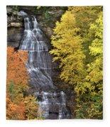Panorama Fall Color Chapel Falls Upper Penninsula Mi Fleece Blanket