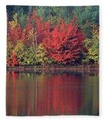Panorama Fall Color Moccasin Lake Upper Peninsula Mi Fleece Blanket