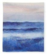 Panorama Ocean Painting Fleece Blanket