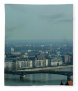 Panorama Of Budapest Fleece Blanket