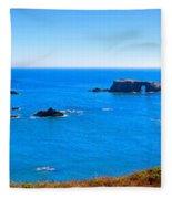 Panoramic California Coast Fleece Blanket