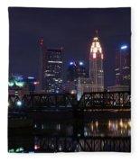 Panoramic Columbus Fleece Blanket