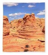 Panoramic Desert Landscape Fantasyland Fleece Blanket