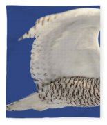 Panoramic Prairie Snowy Owl  Fleece Blanket