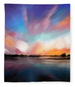 Panoramic Seascape Fleece Blanket
